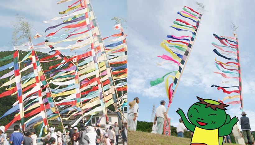写真:「虫追い祭り」 熊本県・一町田八幡宮(7月上旬頃)