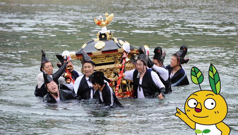 写真:「お走りまつり」兵庫県養父市(4月13日・14日)