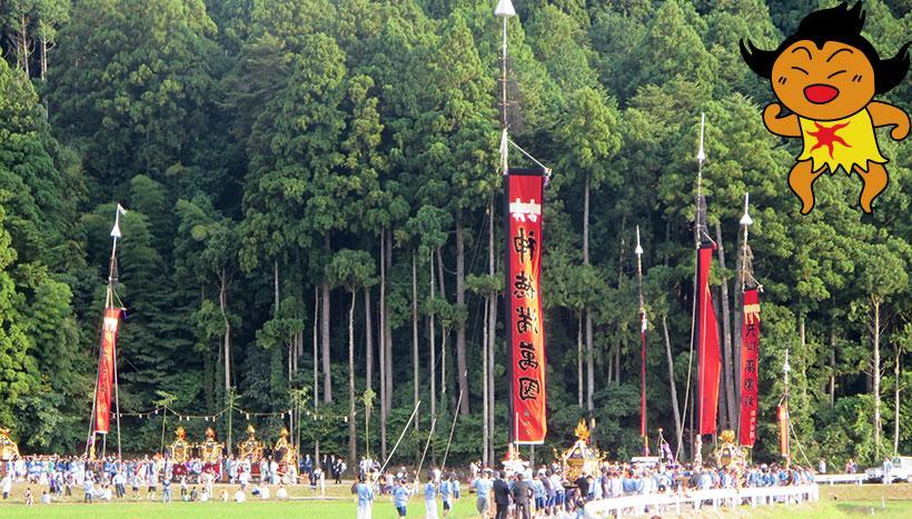 写真:「六保祭」石川県七尾市中島町・日吉神社(9月最終土曜日)