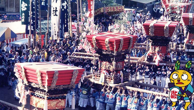写真:「小豆島亀山八幡宮太鼓祭り」香川県小豆島町・亀山八幡宮(10月16日)