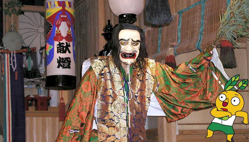 写真:「比婆斎庭神楽」広島県庄原市高野町・比和町の各神社(11月~12月)