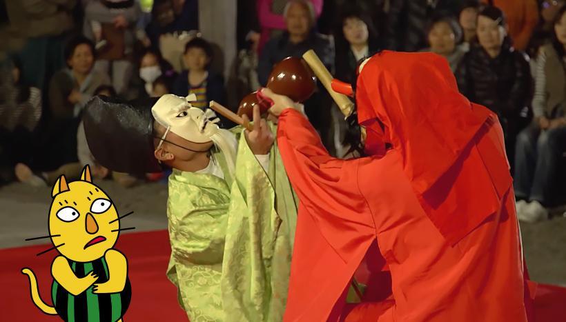 写真:「里神楽」 福井県・篠座神社