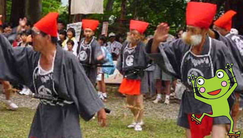 写真:「大宮諏訪神社例祭」長野県北安曇郡小谷村・大宮諏訪神社(8月最終土日)