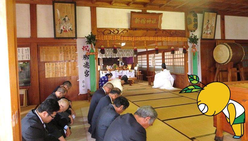 写真:「新舘神社例祭」青森県上北郡東北町新館・新舘神社(9月15日)