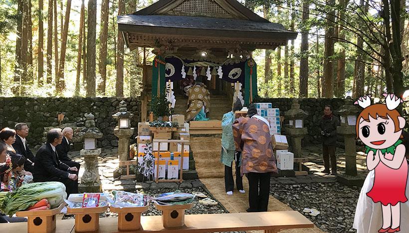 写真:「どぶろく祭り」三重県・大森神社(11月23日)